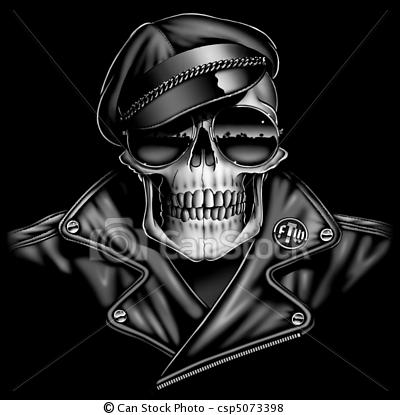 Biker clipart skull Stock Stock Stock Illustration free