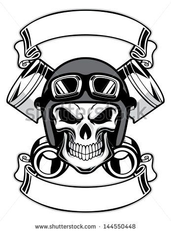Biker clipart skull Pinterest Skull Wearing Bikers Drawing