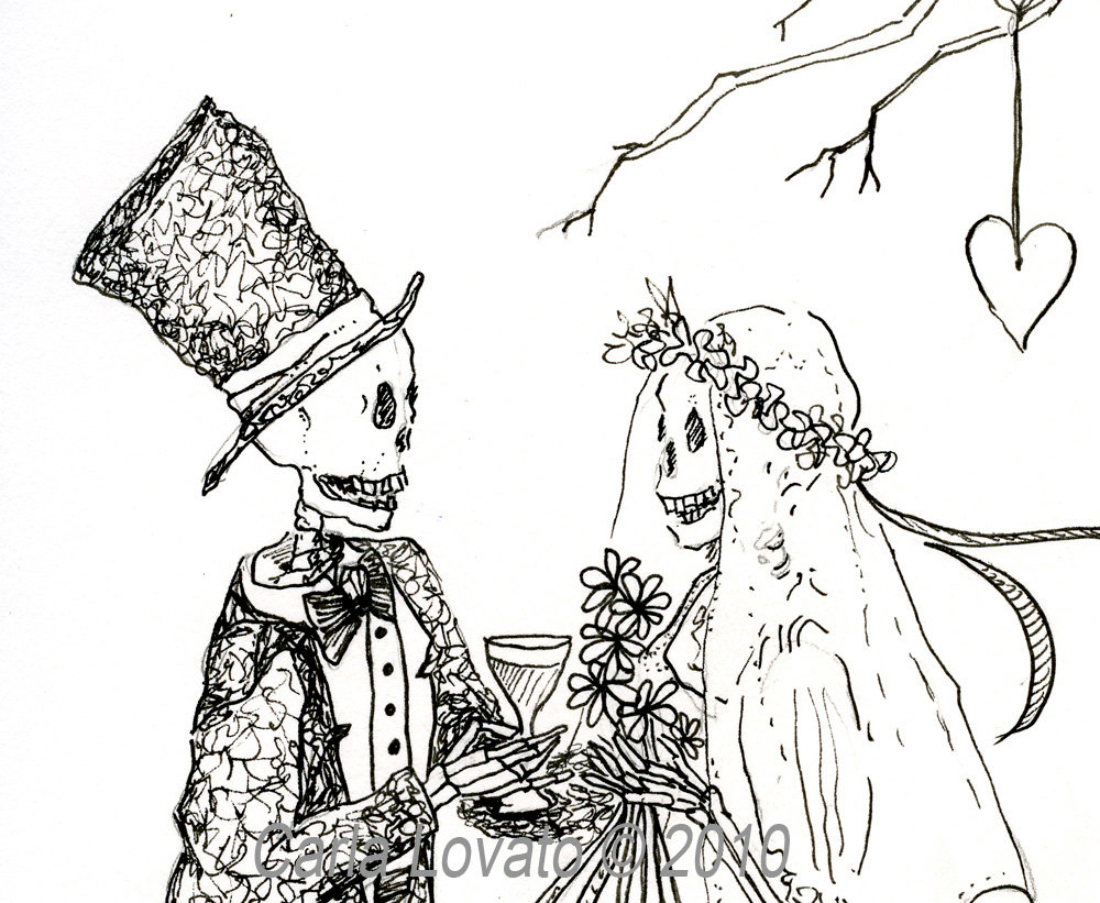 Sleleton clipart bride and groom And Skeleton item? the Like