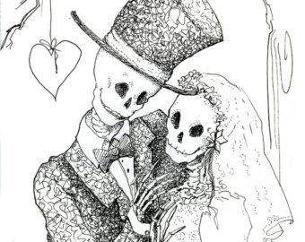 Sleleton clipart bride and groom Day Groom Dead Wedding skeleton