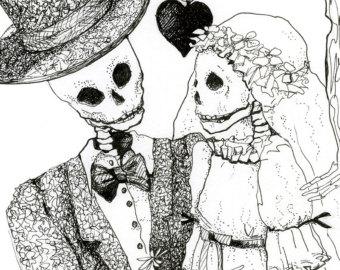 Sleleton clipart bride and groom Wedding of Bride the digital