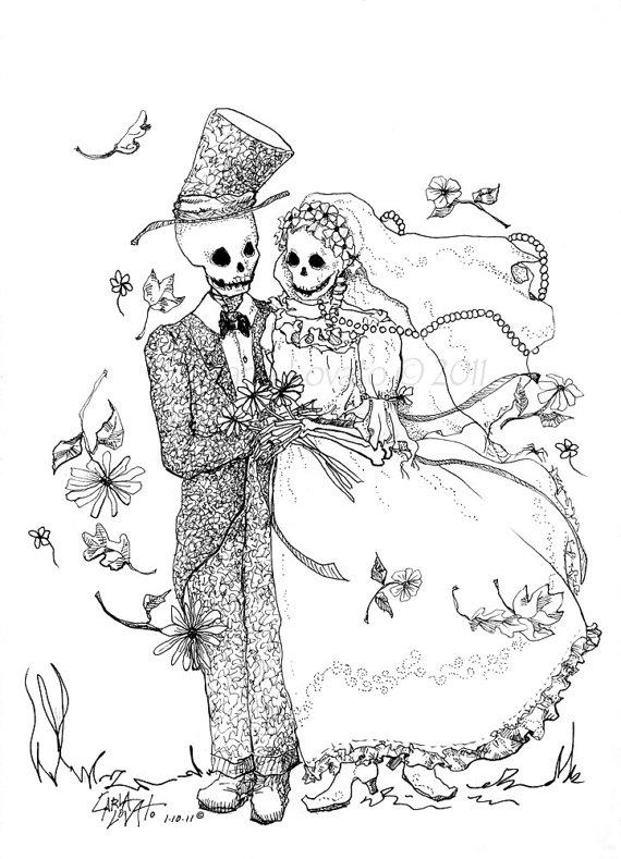 Sleleton clipart bride and groom Groom ◅ Groom Bride Giclee