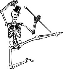 Sleleton clipart dancing Skeleton  and Free Images