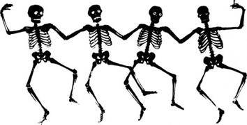Sleleton clipart dancing Still clipart waiting collection Skeleton