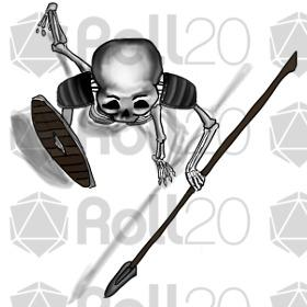 Sleleton clipart dungeons and dragon Basic  Roll20 Dungeoneer goods