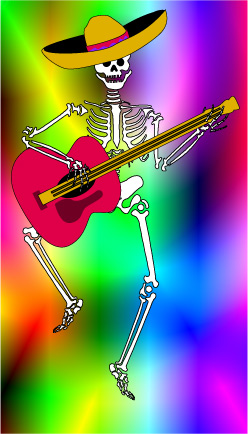 Day Of The Dead clipart skeleton Art Dead of Dancing Dead