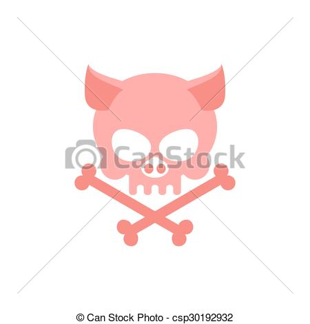 Sleleton clipart pig Skeleton Head with Pig Halloween
