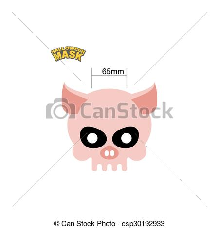 Sleleton clipart pig A a skull Halloween of