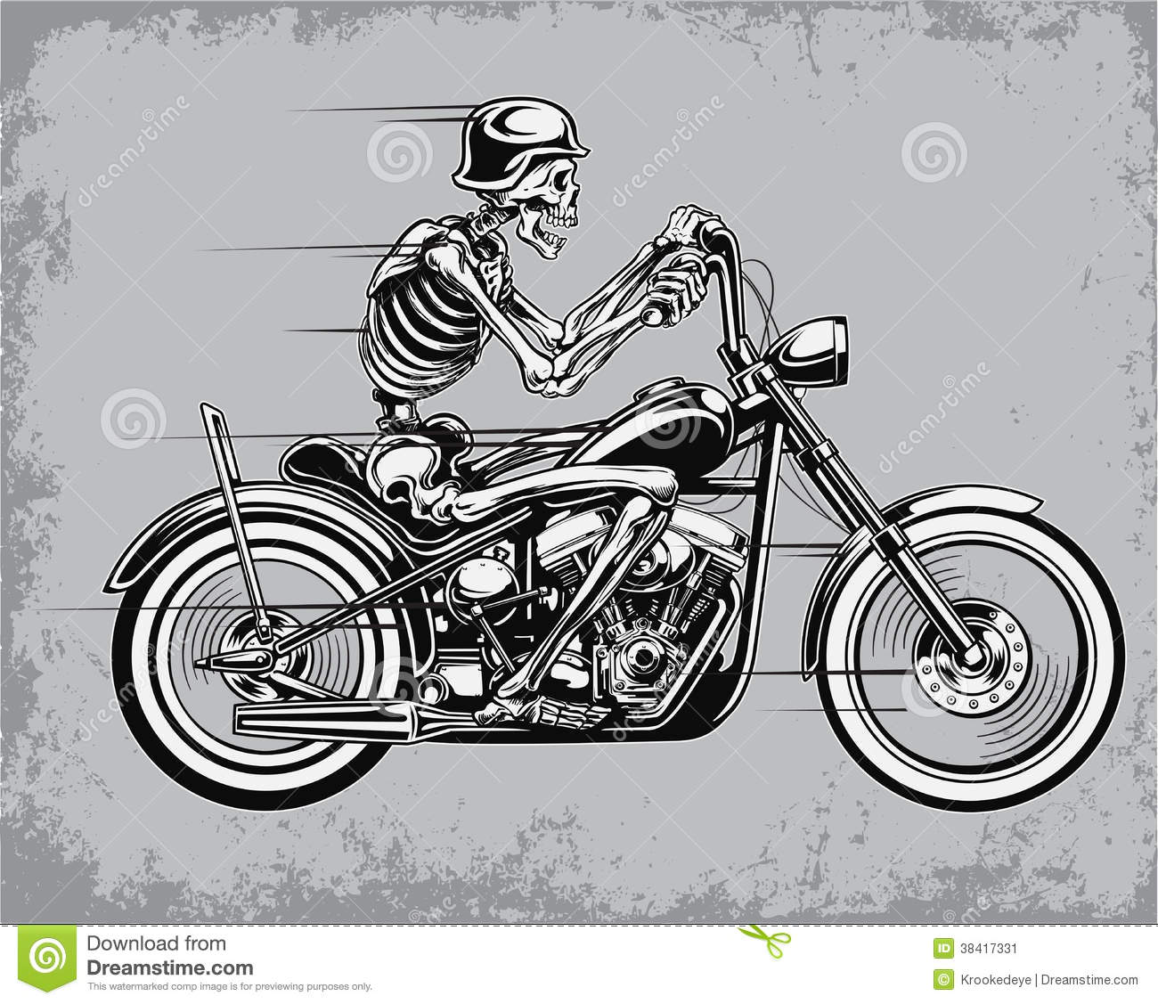 Sleleton clipart riding motorcycle Bike From Over Download Style
