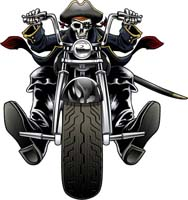 Sleleton clipart riding motorcycle Graphics and 2 Logo Rider