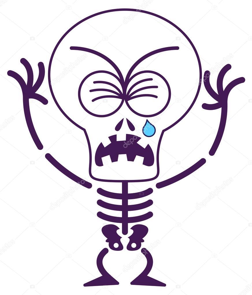 Sleleton clipart sad #55156195 mood in Skeleton in