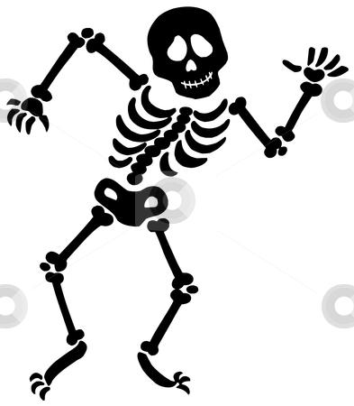 Sleleton clipart silhouette Silhouette skeleton vector stock Dancing