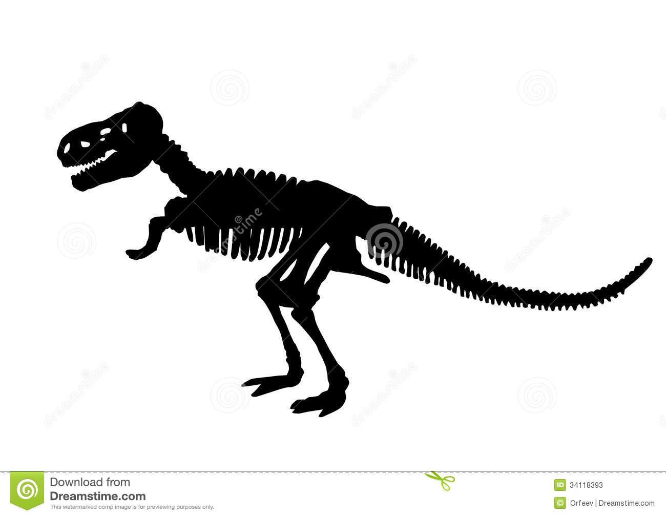 Sleleton clipart silhouette Clipart  Bones Dinosaur Collection