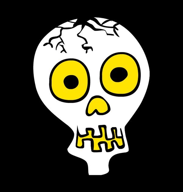 Sleleton clipart skeleton face Halloween skeleton face clipart