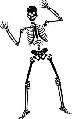 Sleleton clipart skinny The Clip Halloween LLC*: Art