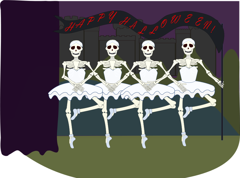 Ballerina clipart halloween #1