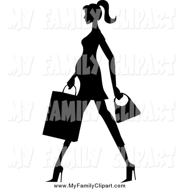 Slender clipart pregnant woman With of a Shopping of