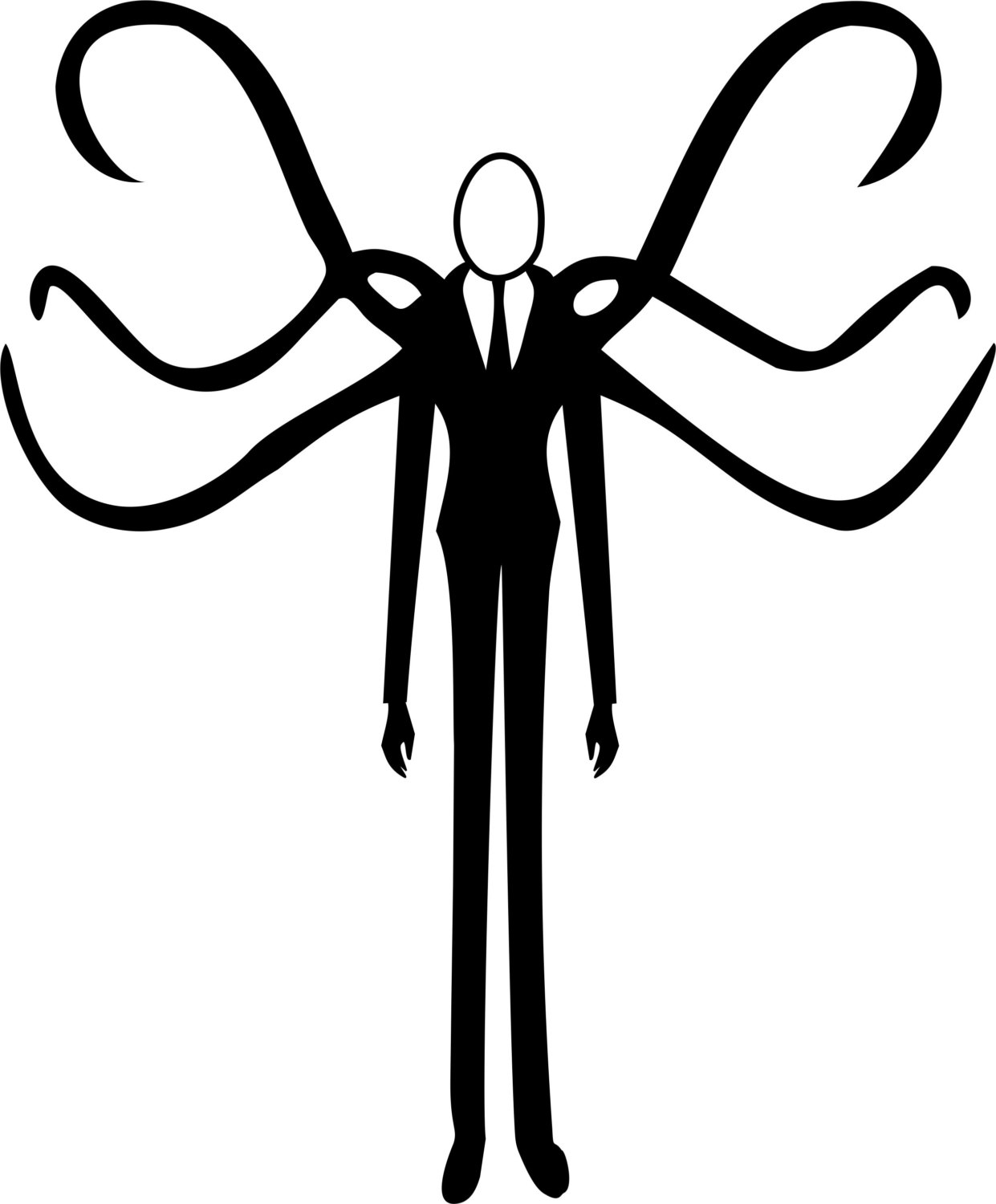 Slender Man clipart Decal Slenderman Slender Man vinyl