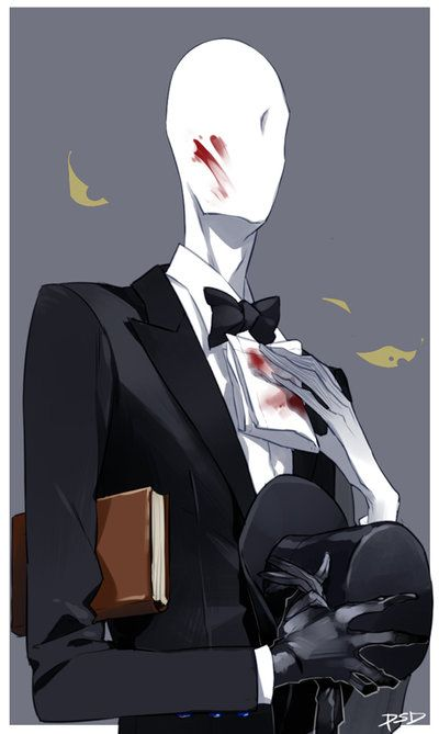 Slender Man clipart bloody == Find more images and