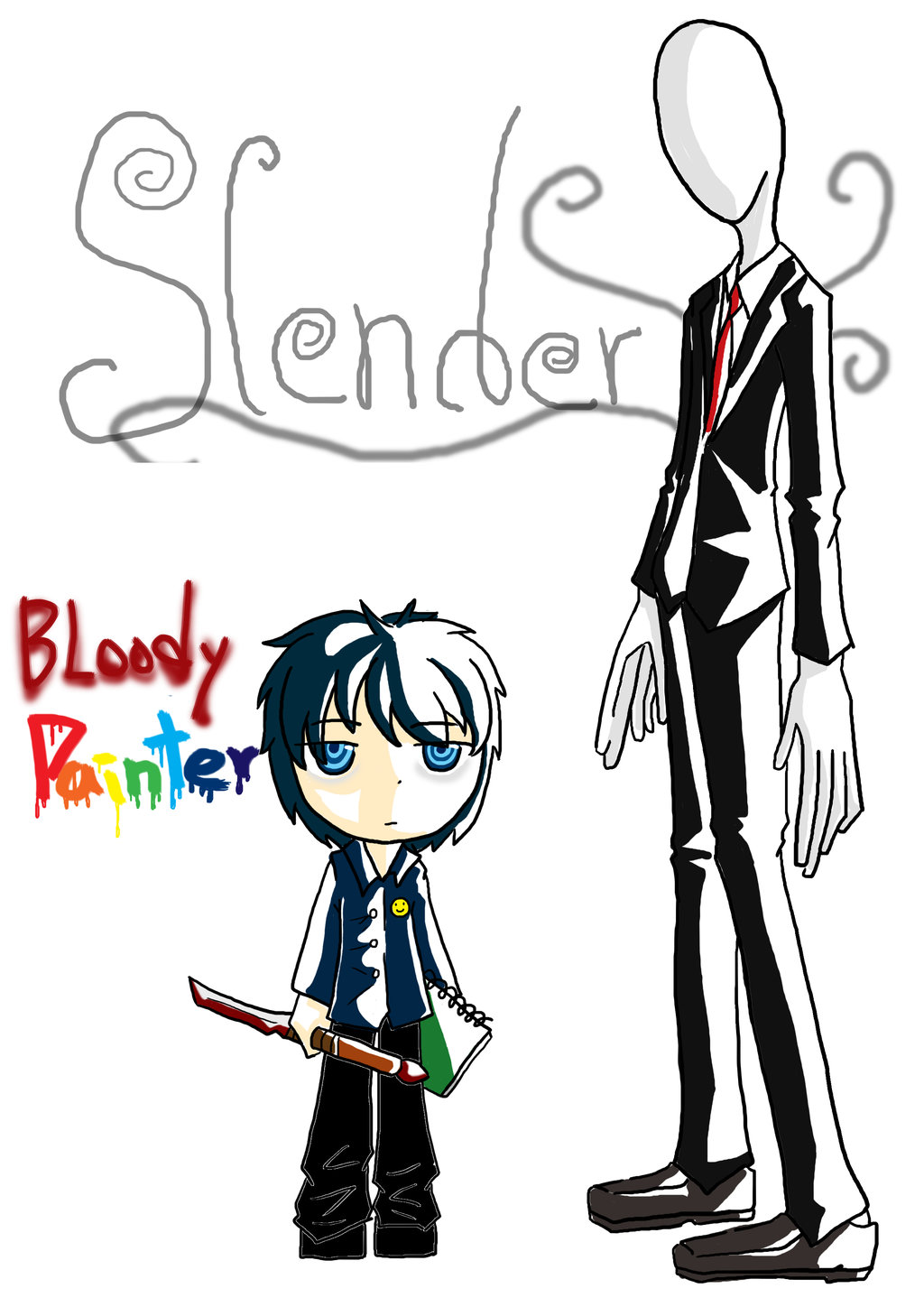 Slender Man clipart bloody Bloody  Slender ladynulight and