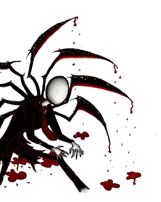 Slender Man clipart bloody On Slenderman: by by blood!