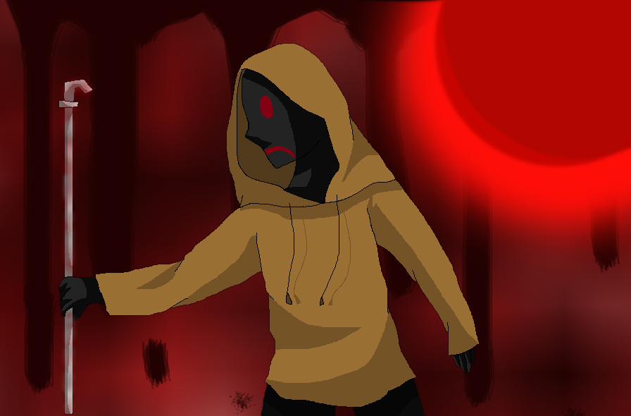 Slender Man clipart bloody Man hoodie creepypata man proxy