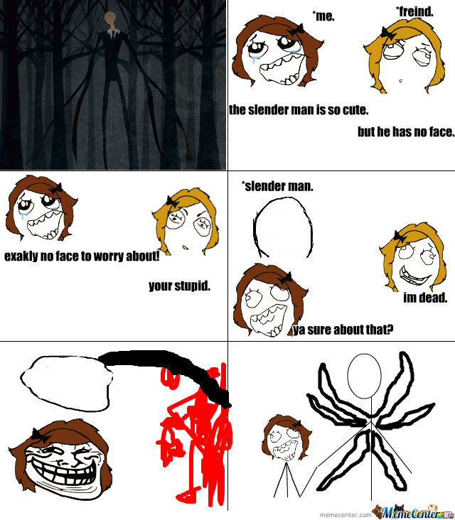 Slender Man clipart funny By Meme Man Awesome Is