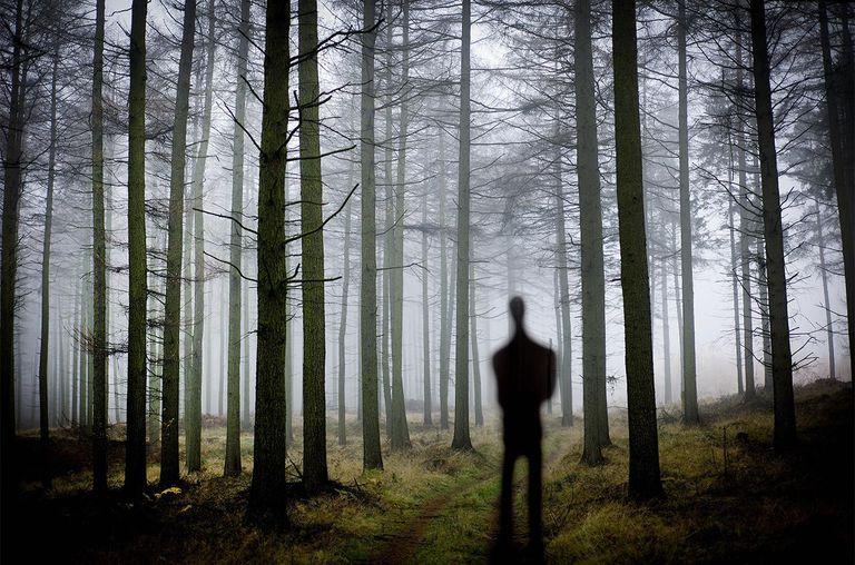Slender Man clipart skender Real in Silhouette Urban Legend?
