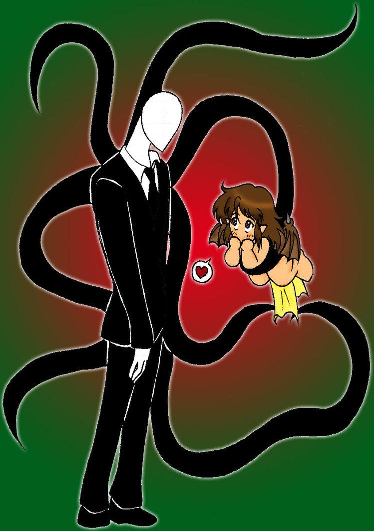 Slender clipart tentacle Illust chan Slenderman IllusionEvenstar by