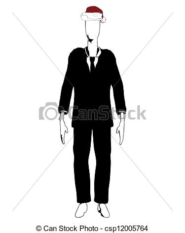 Slenderman clipart thin person With Hat Slender man Illustration