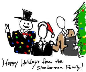 Slenderman clipart christmas Angels the Christmas photo d'awww!