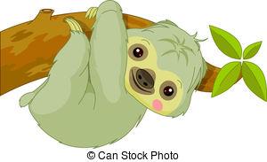 Sloth clipart Fun Sloth EPS Clipart Sloth