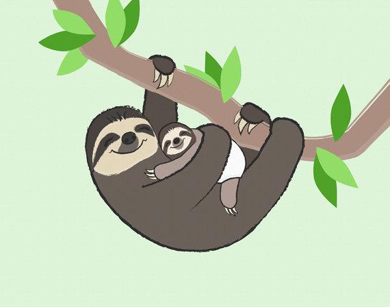 Sloth clipart Sloth download clip art Sloth