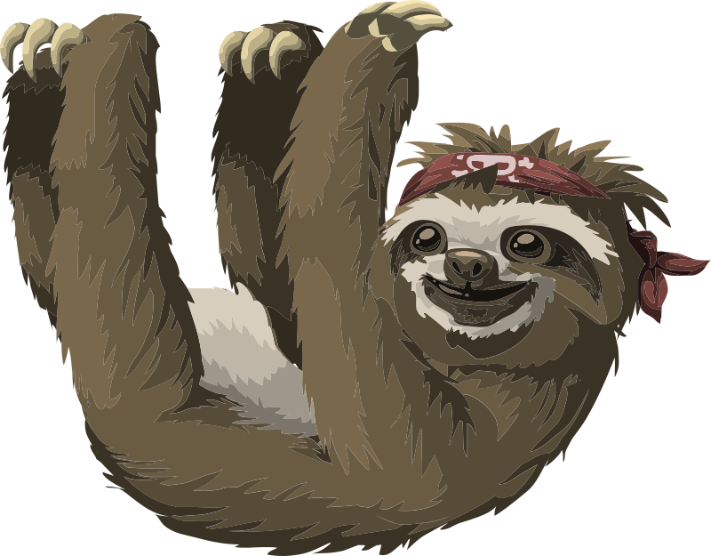 Sloth clipart Cool Clip Public Use Domain