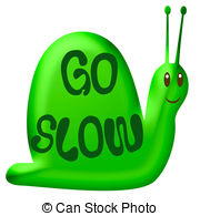 Slow clipart Illustrations smiling slow snail