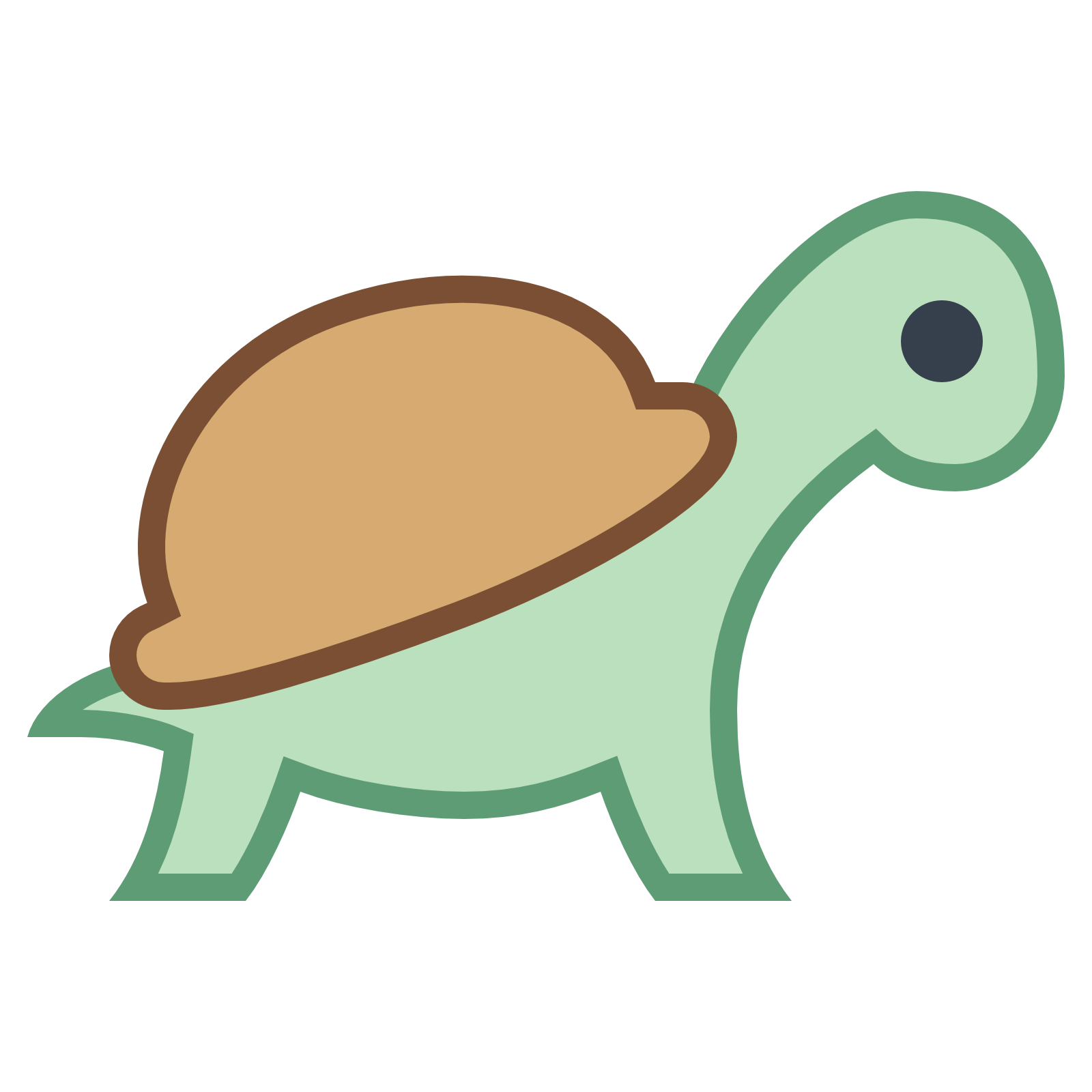 Slow clipart turtle head - Pencil and in color slow ...