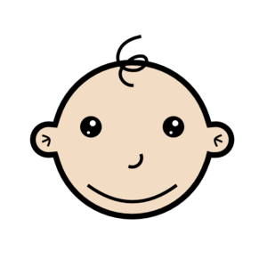 Small clipart Baby Small Smiling com Clker
