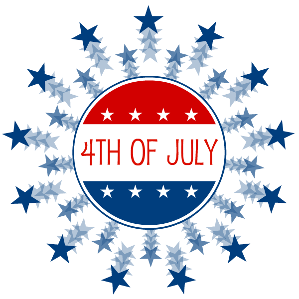Small clipart 4th july Of july 4th  Clip