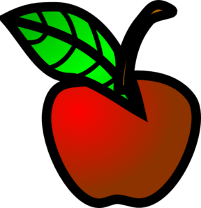 Small clipart Red Apple Small com Clker