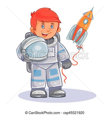 Small clipart astronaut Space small child and icon