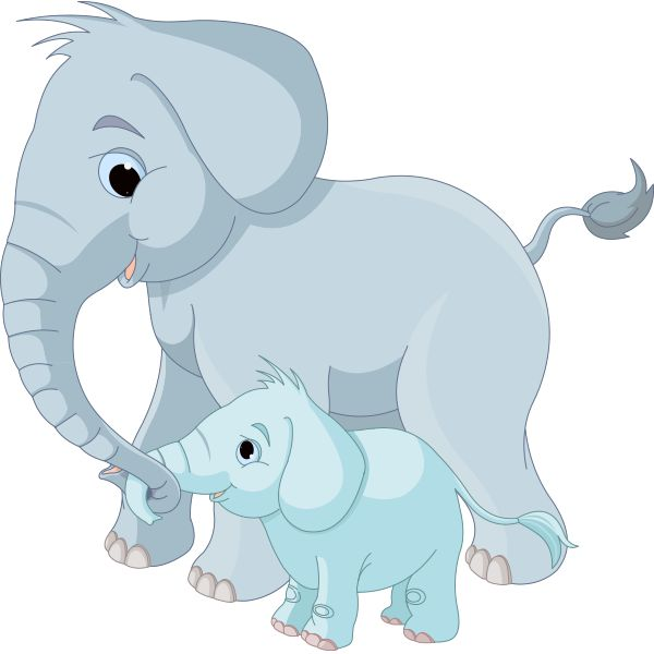 Small clipart big little Big Elephants on 180 Art
