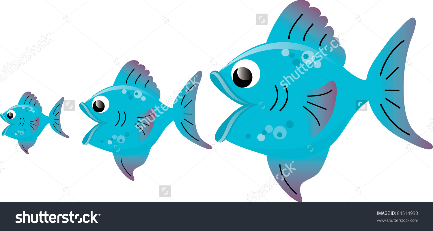 Small clipart big little Big small (82+) fish Clipart