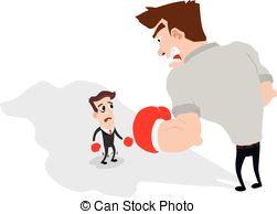 Small clipart big vs And businessman 11 Art