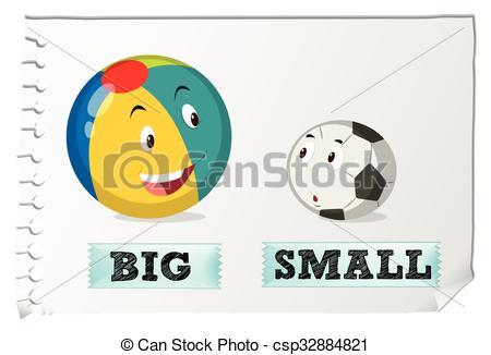 Small clipart big vs Big small  small and