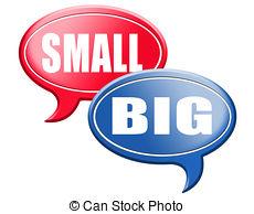 Small clipart big vs Small versus  deal size