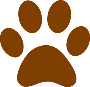 Brown clipart muddy Dog brown Paw collection art