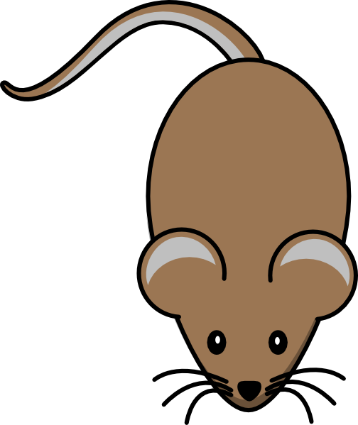 Mouse clipart brown mouse #1