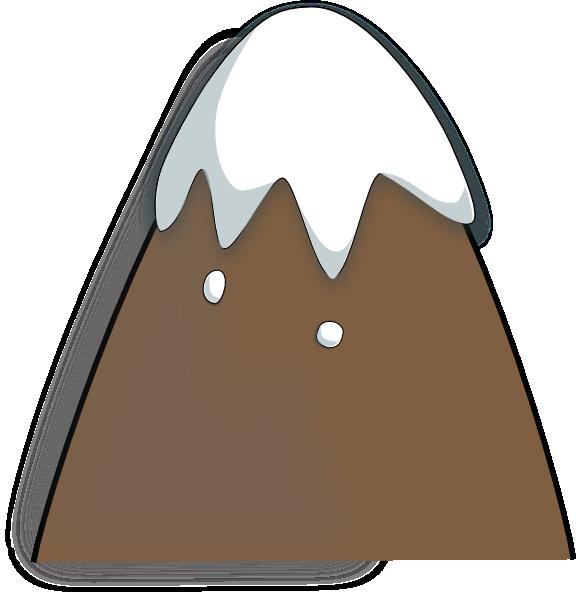 Mountain clipart cartoon Vector Clip Brown Art art
