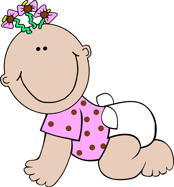 Small clipart cartoon baby Online & vector at Girl
