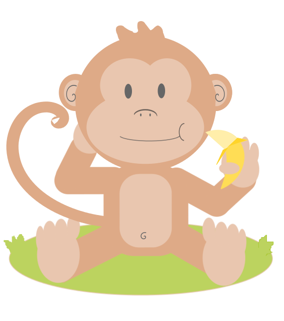 Banana clipart baby monkey Monkeys Cartoon Download Art Clip